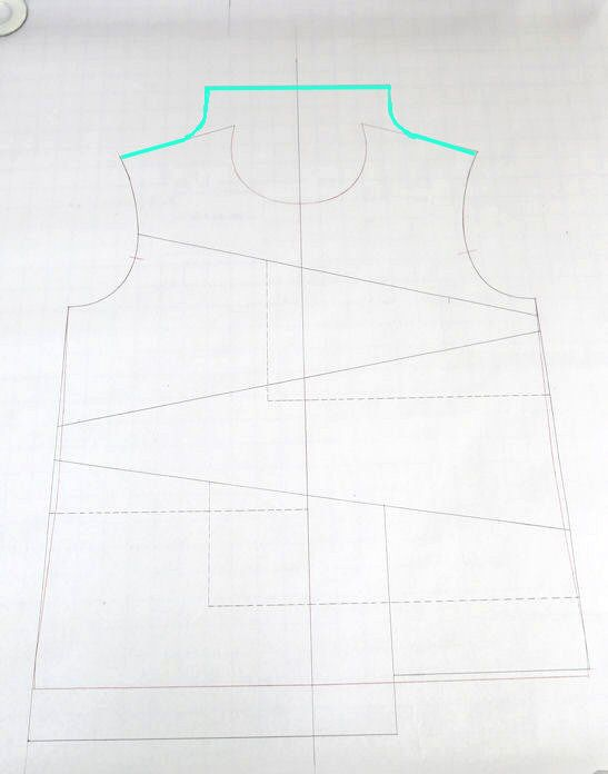 draft a funnel neck t-shirt   clothing pattern adjustments ...