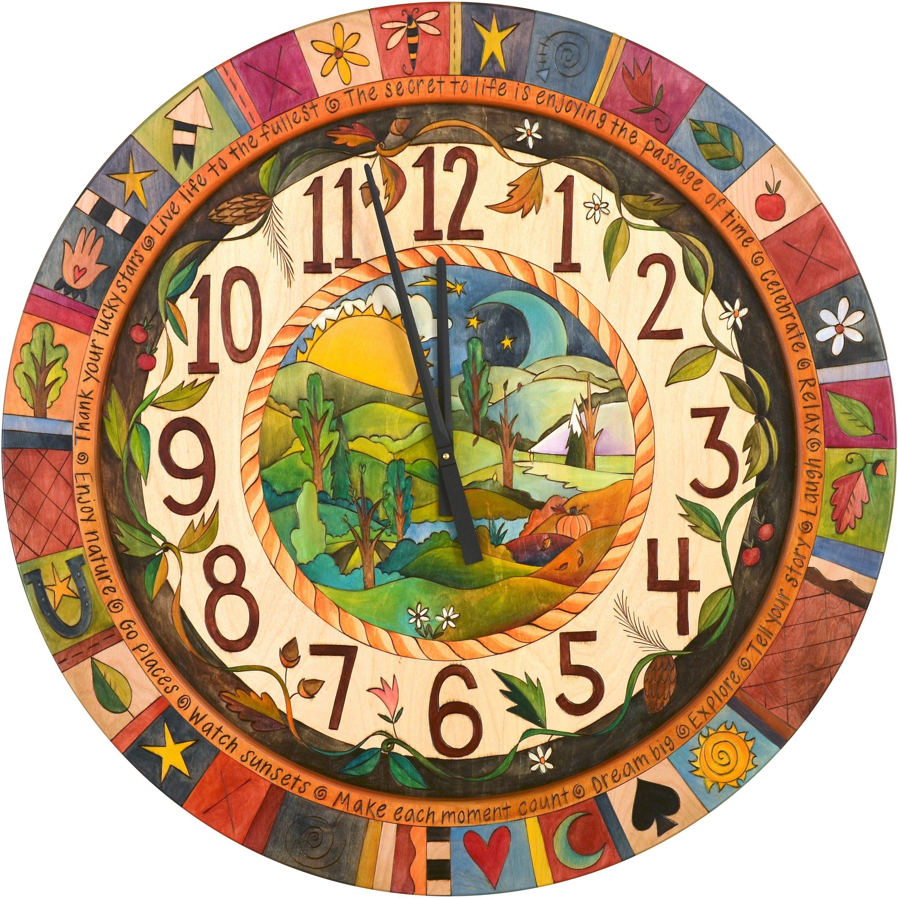 36 round wall clock clock painting clock art clock on wall clocks id=71013