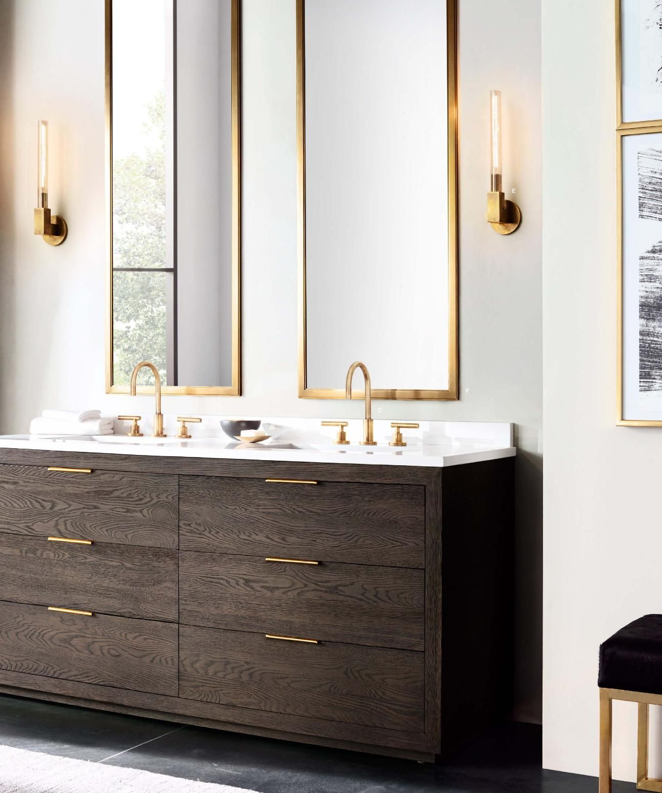 Rh Source Books Mirrors And Sconces Luxury Bathroom Vanities Modern Bathroom Vanity Bathroom Design