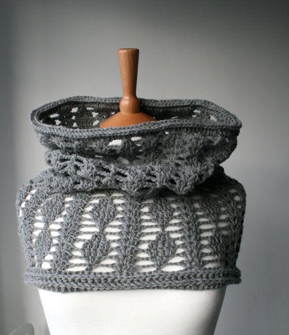 Crochet Pattern cowl pattern snood crochet pattern di LuzPatterns