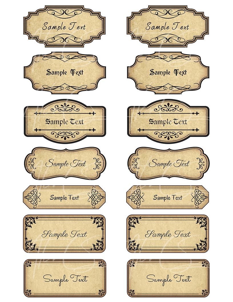 15 Printable Blank Vintage Apothecary Labels Set Editable Etsy Vintage Labels Printables Apothecary Labels Vintage Labels Printables Free