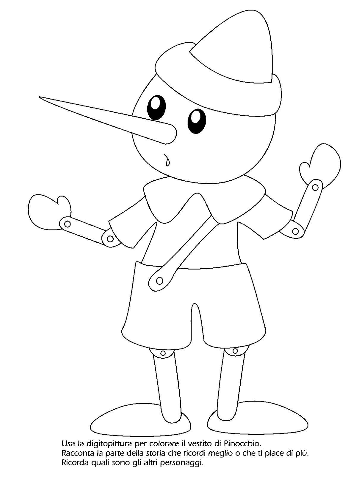 La Maestra Linda Pinocchio Da Colorare I Discorsi E Le Parole