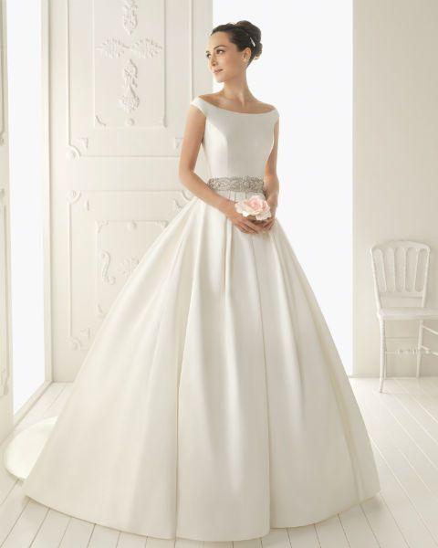 vestidos de novia aire barcelona de rosa clará en guadalajara | boda