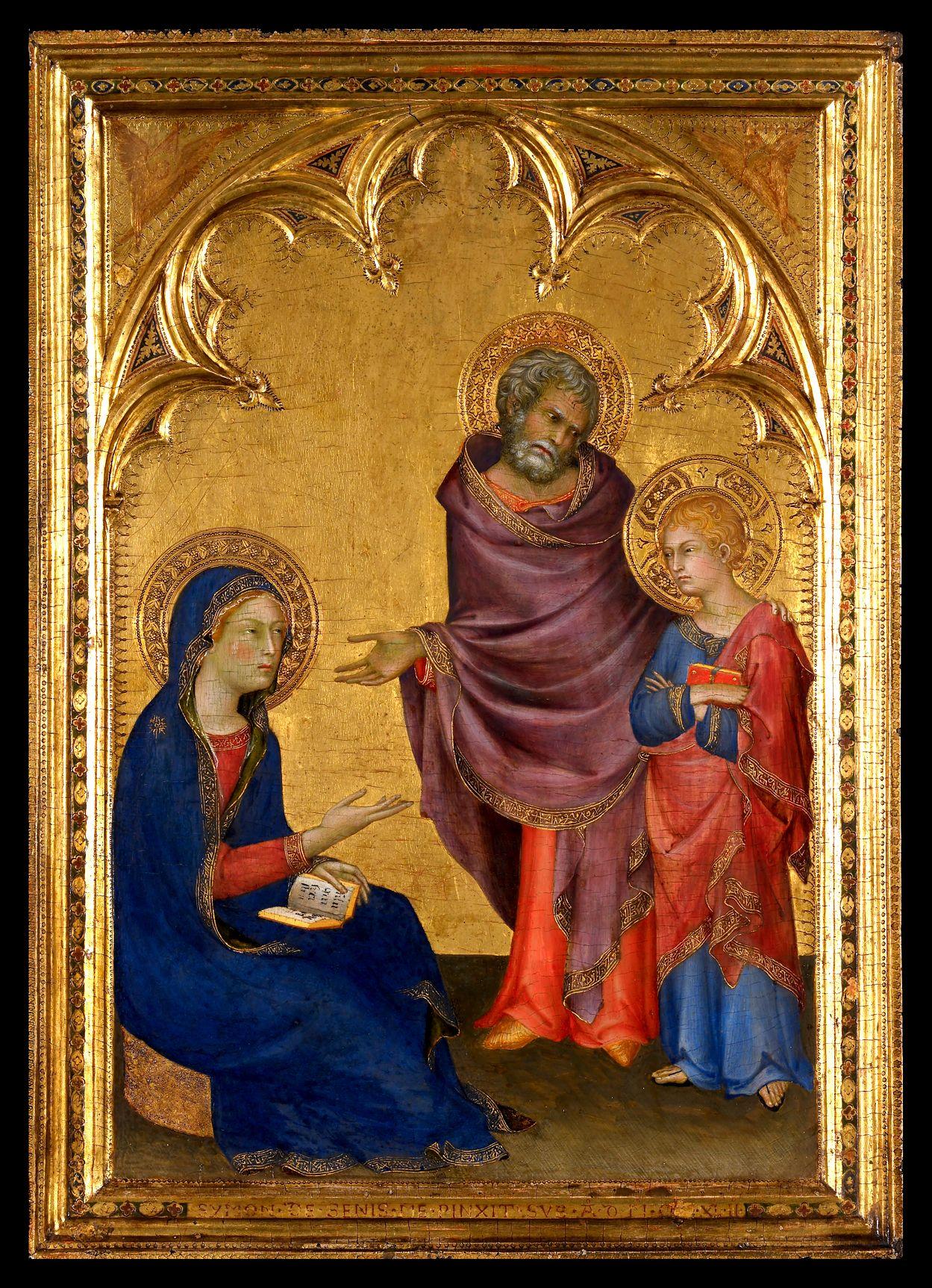 Simone Martini - Christ Discovered In Temple 1342