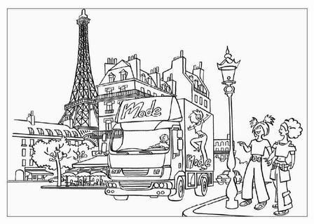 Dafdraw3 Jpg Coloring Pages Paris Famous Places