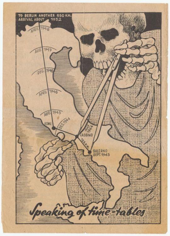 German propaganda leaflet mocking the progress of allied forces in