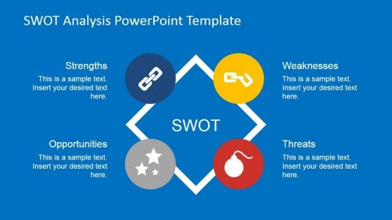 Flat SWOT Analysis PowerPoint Template Swot analysis, Slide - basketball powerpoint template