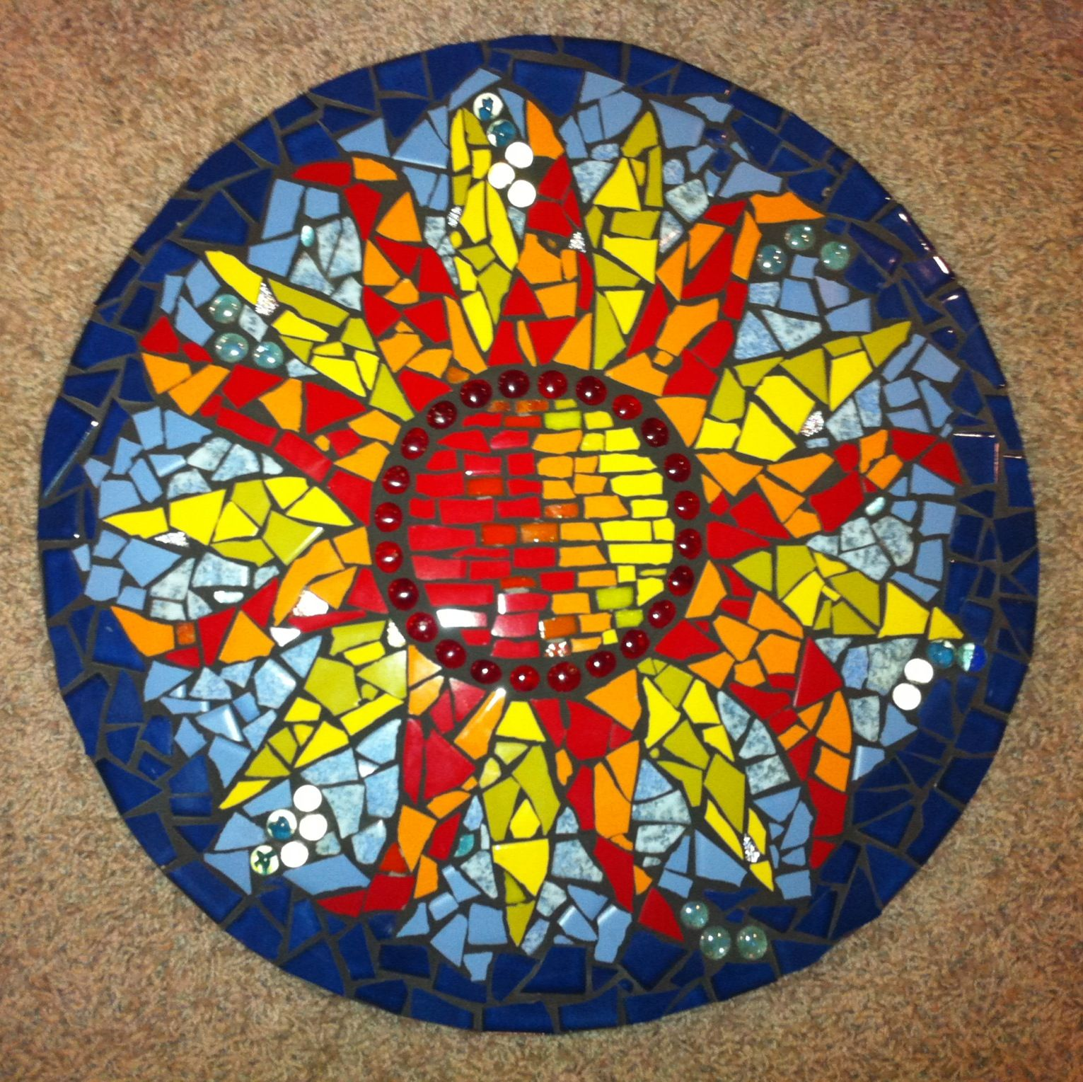 mosaic fire pit cover tami lewis designs pinterest mosaics