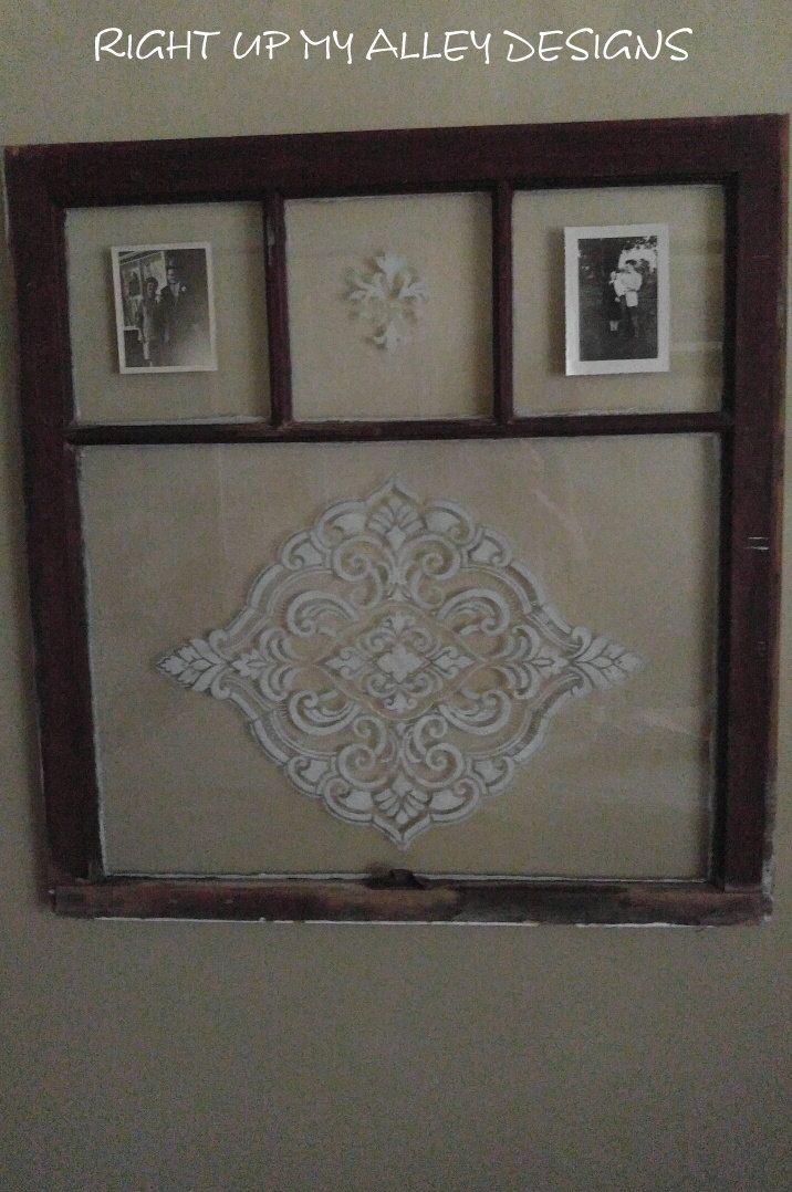 Old painted window,antique window,vintage window,vintage window ...