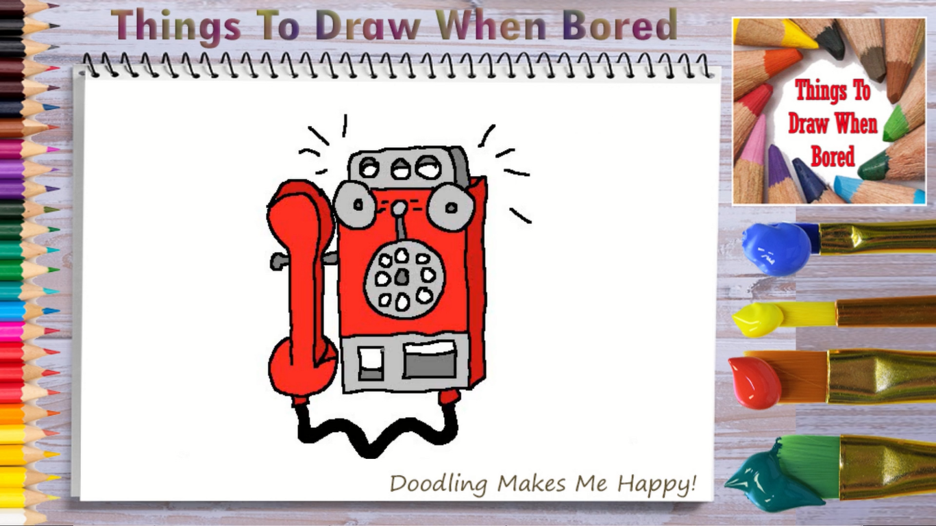 How To Draw A Payphone Things To Draw When Bored In 2020 Drawings Hard Drawings Christmas Doodles