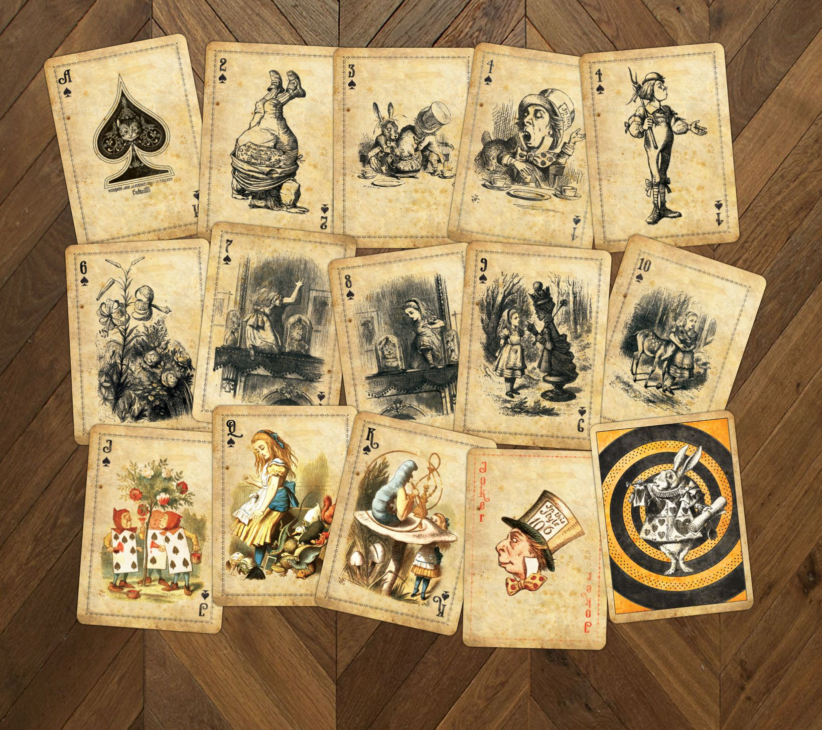 Alice in Wonderland  Curious  Playing Cards