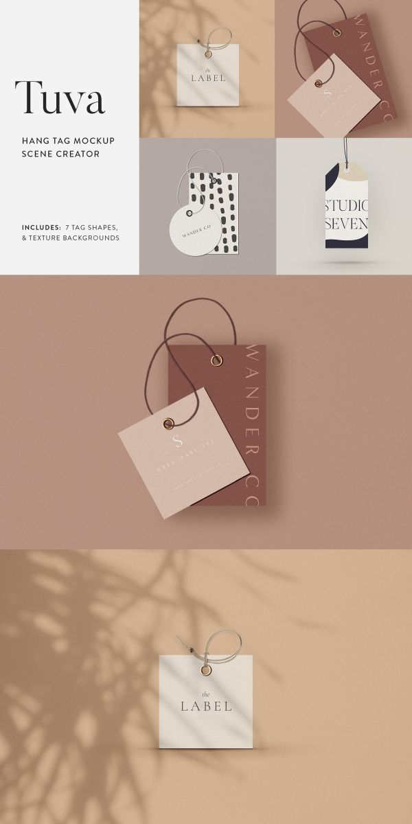 Tuva Hang Tag Mockup Scene Creator Hang Tag Design Tag Design Branding Design