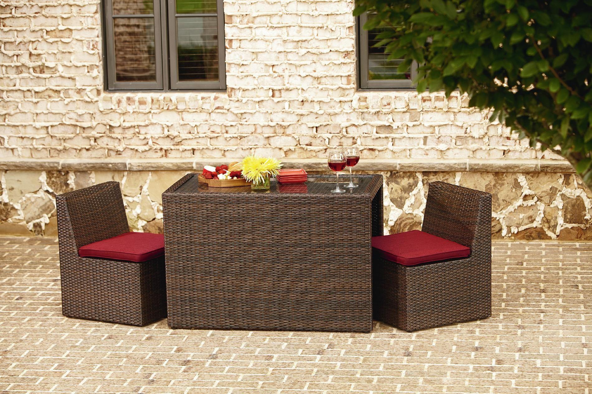 La Z Boy Outdoor Brody 3 Piece Bistro Set Living Patio Furniture Small E Sets