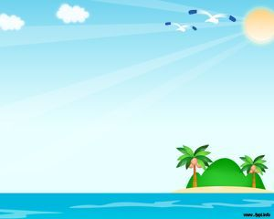 Plantilla Powerpoint De Playa  Proyectos Que Intentar