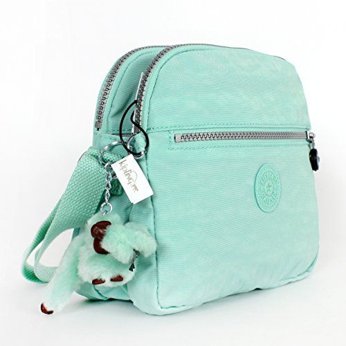 Kipling Keefe Shoulder Handbag Crossbody Sea Foam Green | Designer ...