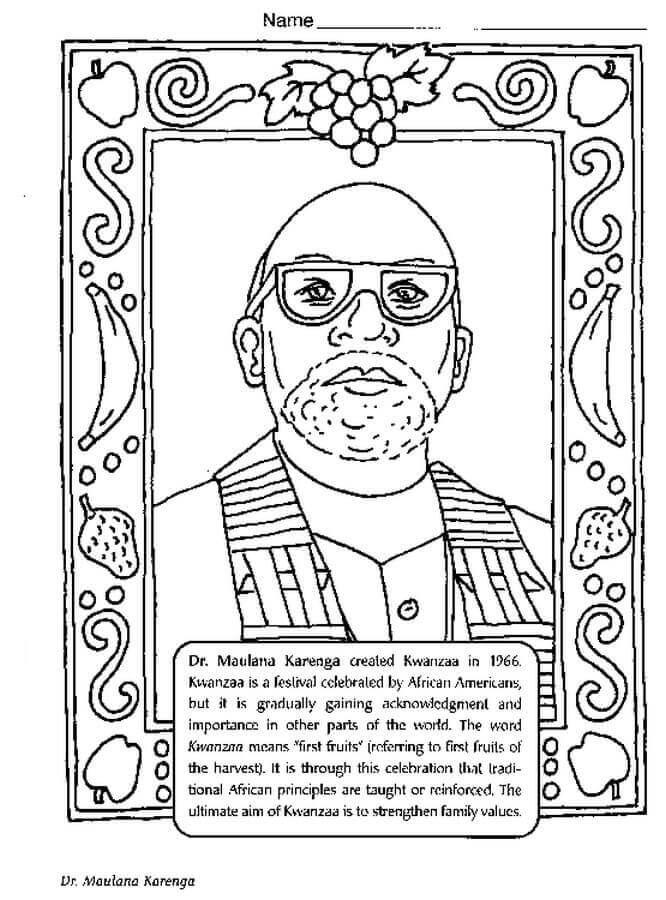 Free Printable Black Month Coloring Pages Ron Karenga ...