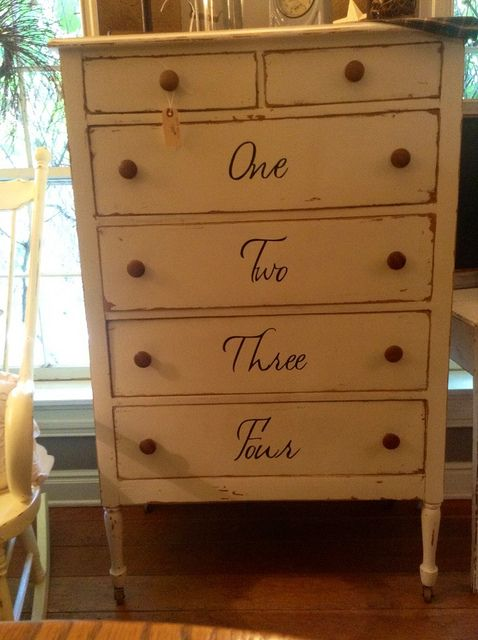 White painted dresser by Shop No 213 via Flickr