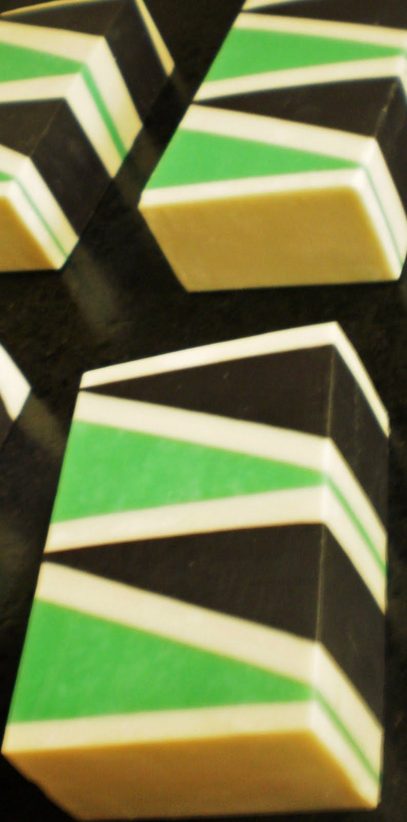triangle embeds - cold-process soap