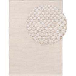 Photo of Benuta Wollteppich Rocco weiß 140×200 cm – Naturfaserteppich aus Wolle Benuta