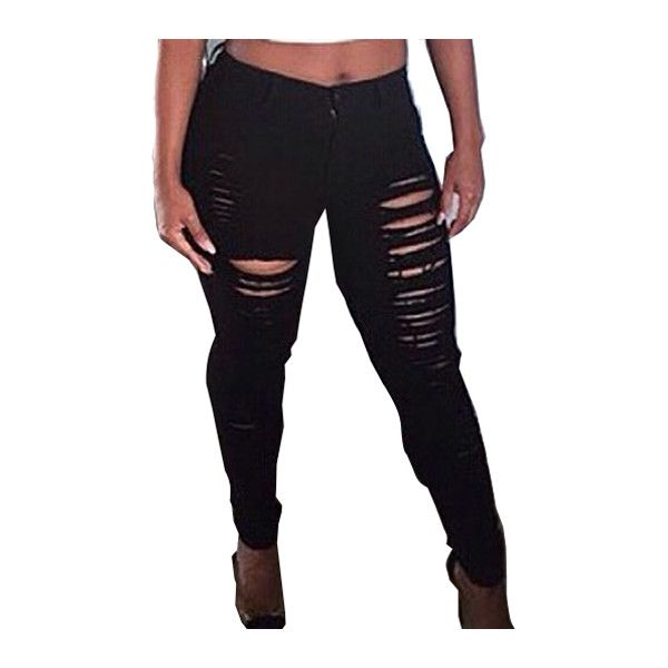 Rotita Cutout Design Zipper Closure Black Pants (195 NOK) ❤ liked on Polyvore featuring pants, black, skinny pants, cut-out pants, print skinny pants, print pants and cut out pants