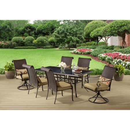 Better Homes and Gardens Riverwood 7-Piece Patio Dining Set, Seats 6 - Better Homes And Gardens Riverwood 7-Piece Patio Dining Set, Seats