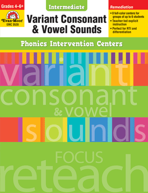 Phonics Intervention Centers: Variant Consonant and Vowel Sounds