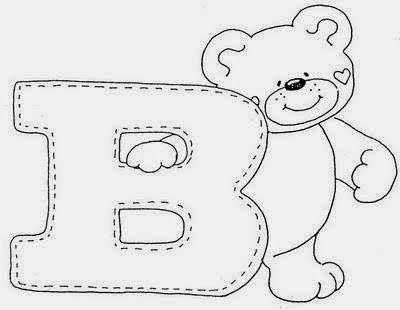 Mais um alfabeto com letras estilo country e um lindo ursinho para ...