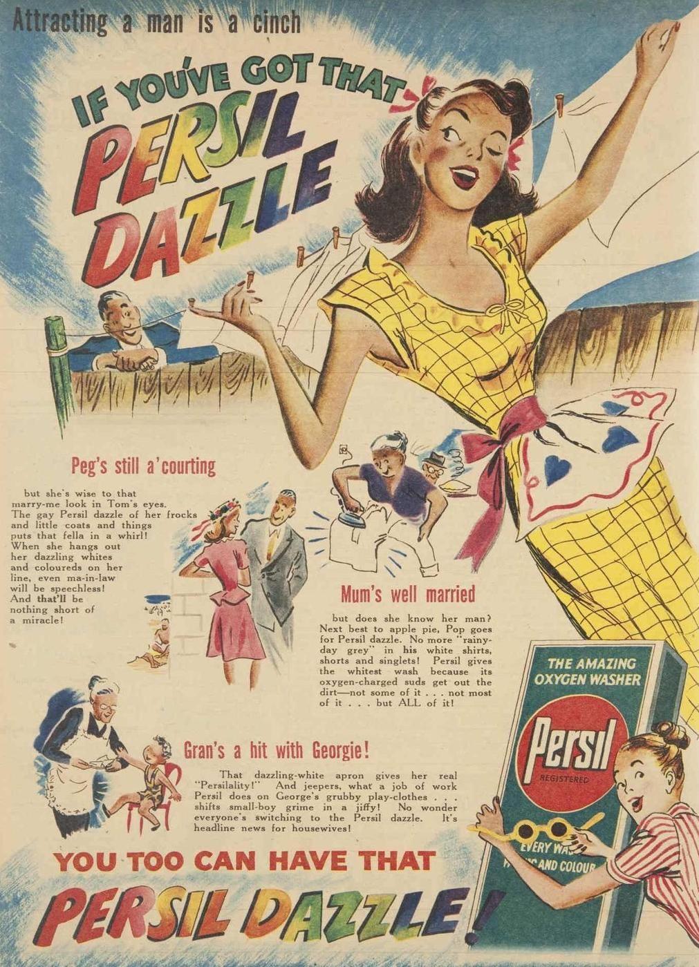 mid-centurylove:  That Persil dazzle, 1947