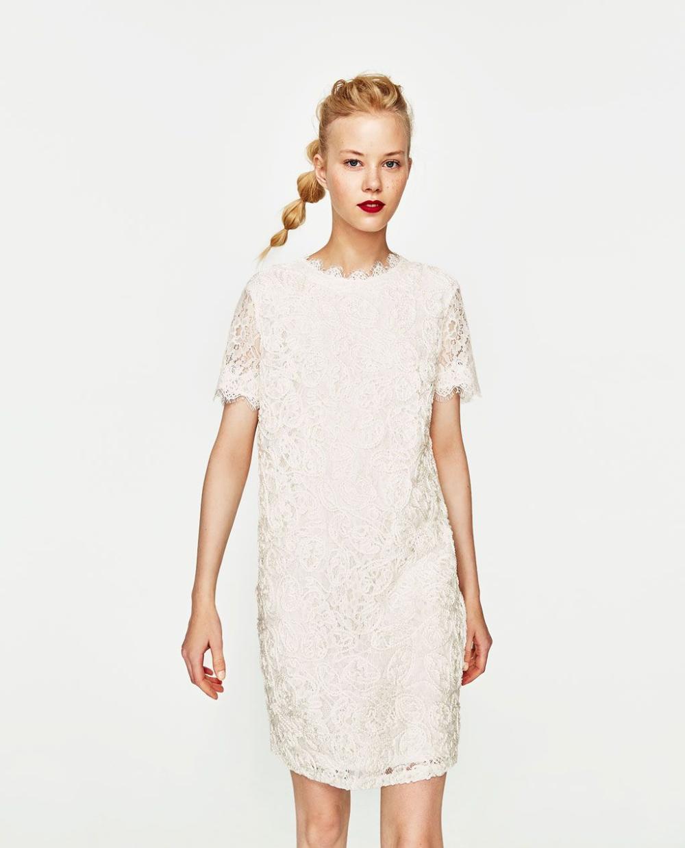 Zara White Lace Shift Dress Google Search White Lace Shift Dress Short Lace Dress Short Sleeve Lace Dress [ 1239 x 1000 Pixel ]