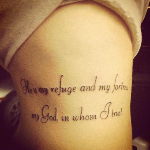 Tattoo Needle Quotes: Psalm 91 Tattoo