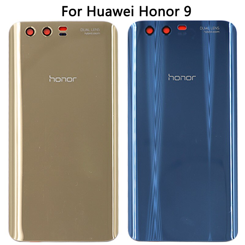 For Honor 9 Back Glass Battery Cover Rear Door Housing Case Panel For Honor 9 Back Glass Cover Replacement In Mobile Phone Housings Frames From Cellphones T Phone Mobile Phone