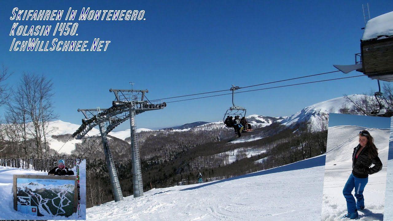 Skifahren in Kolasin Montenegro.