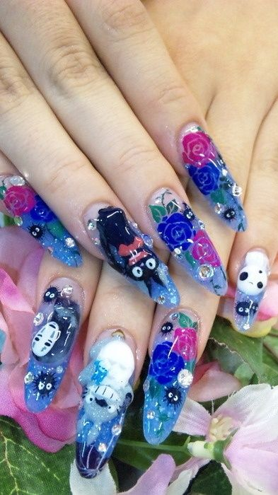 5 Cute 3d Nail Design Acrylic Flower 3d Nail Art Find More Latest