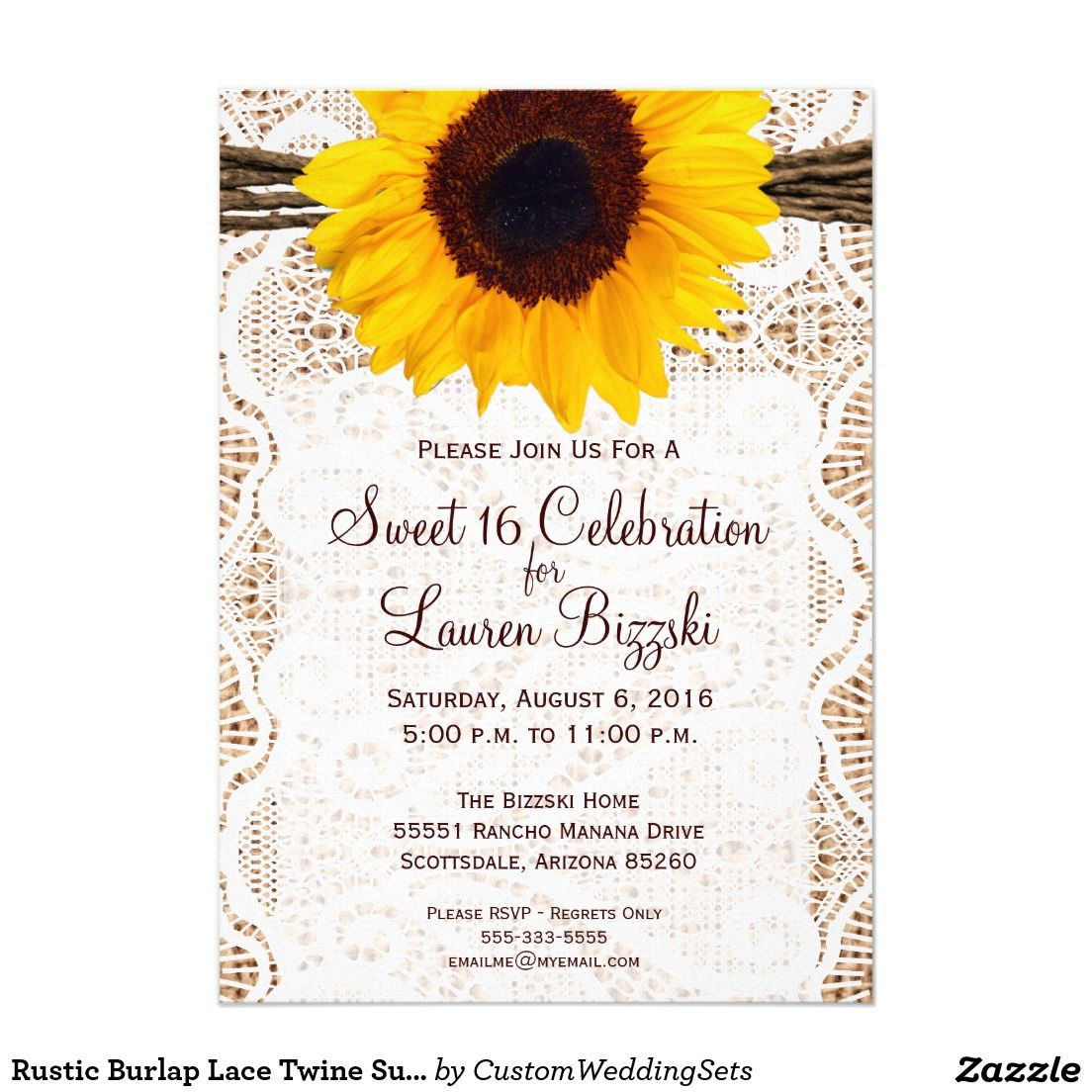 Create your own Invitation Sunflower