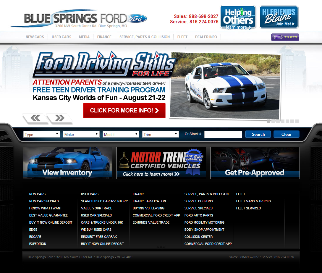 Blue Springs Ford In Kansas City Mo Also Serving Blue Springs Mo