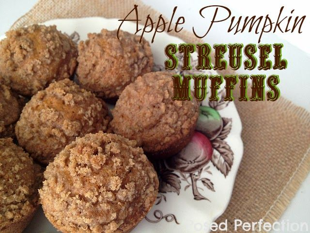 Posed Perfection: Apple Pumpkin Streusel Muffins