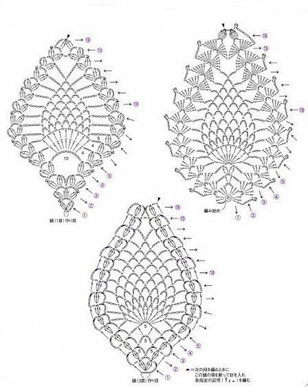 Esquema punto piña crochet - Imagui | Вязание | Pinterest | Esquemas ...