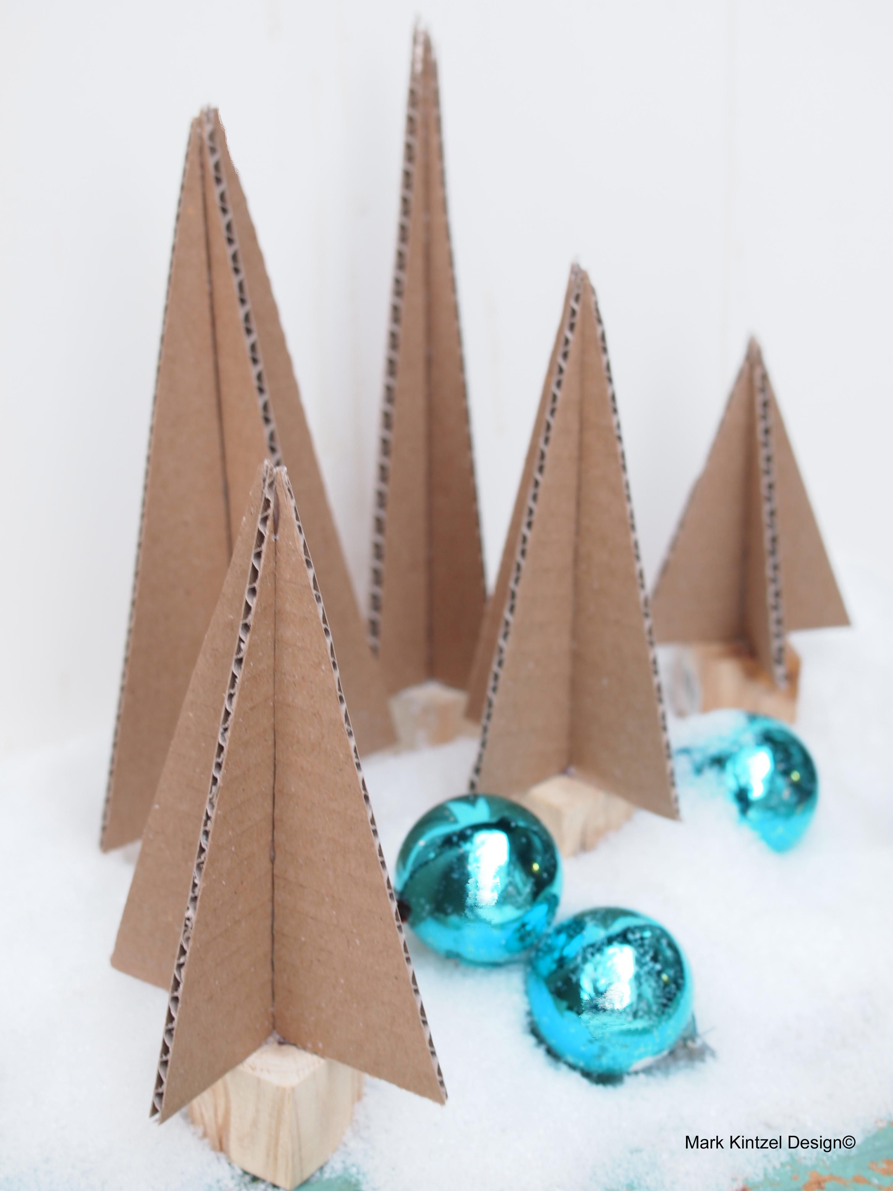 Fast Crafts For The Holidays  Cardboard Christmas Trees A