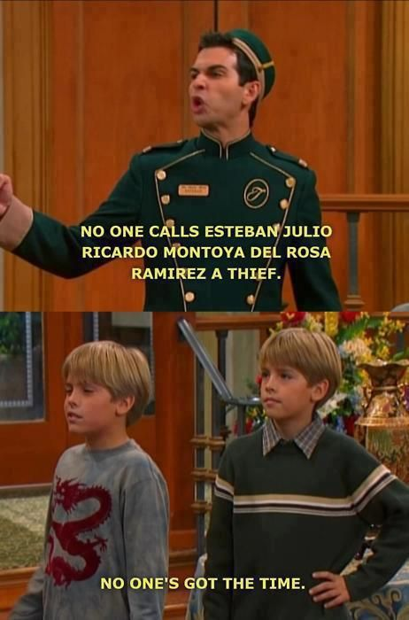 The Suite Life of Zack And Cody. I freaking miss watching this show :( most particularly season 1..