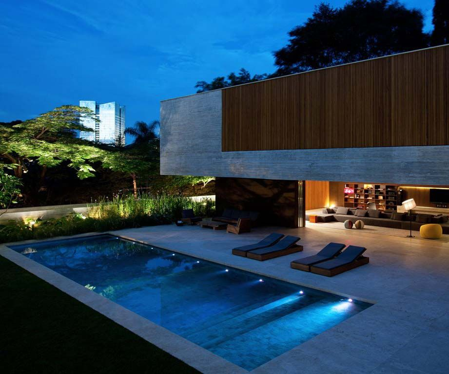 Here you get modern architecture with open design and adjacent pool a fantastic house with best location in casa dos ipês in sao paulo brazil