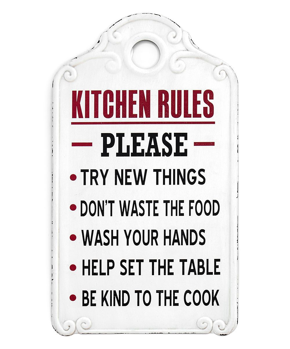 Küchenschilder Ragon House Kitchen Rules Sign | Zulily #kitchenrules ...