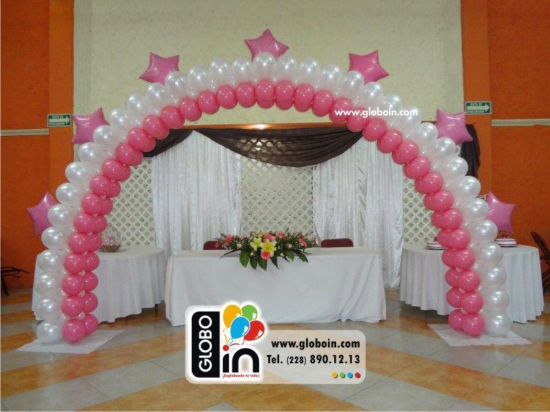Arco de globos xv a os decoraciones para xv a os con for Decoracion con globos 50 anos