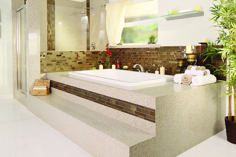 garden tub - mosaic tile - granite transformations | bathroom