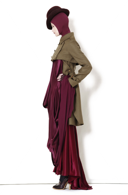 Alexander McQueen maxi dress cape