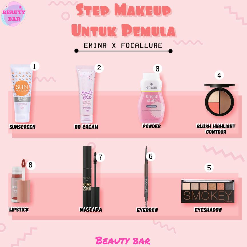 Step Makeup Untuk Pemula Makeup Makeup Tips Beauty Bar
