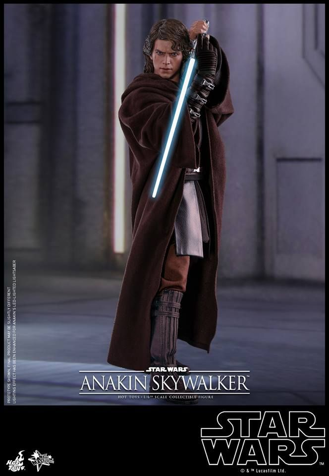 Hot Toys Star Wars Revenge Of The Sith Anakin Skywalker 1 6 Scale Figure Hot Toy Report Anakin Skywalker Star Wars Anakin Star Wars Toys