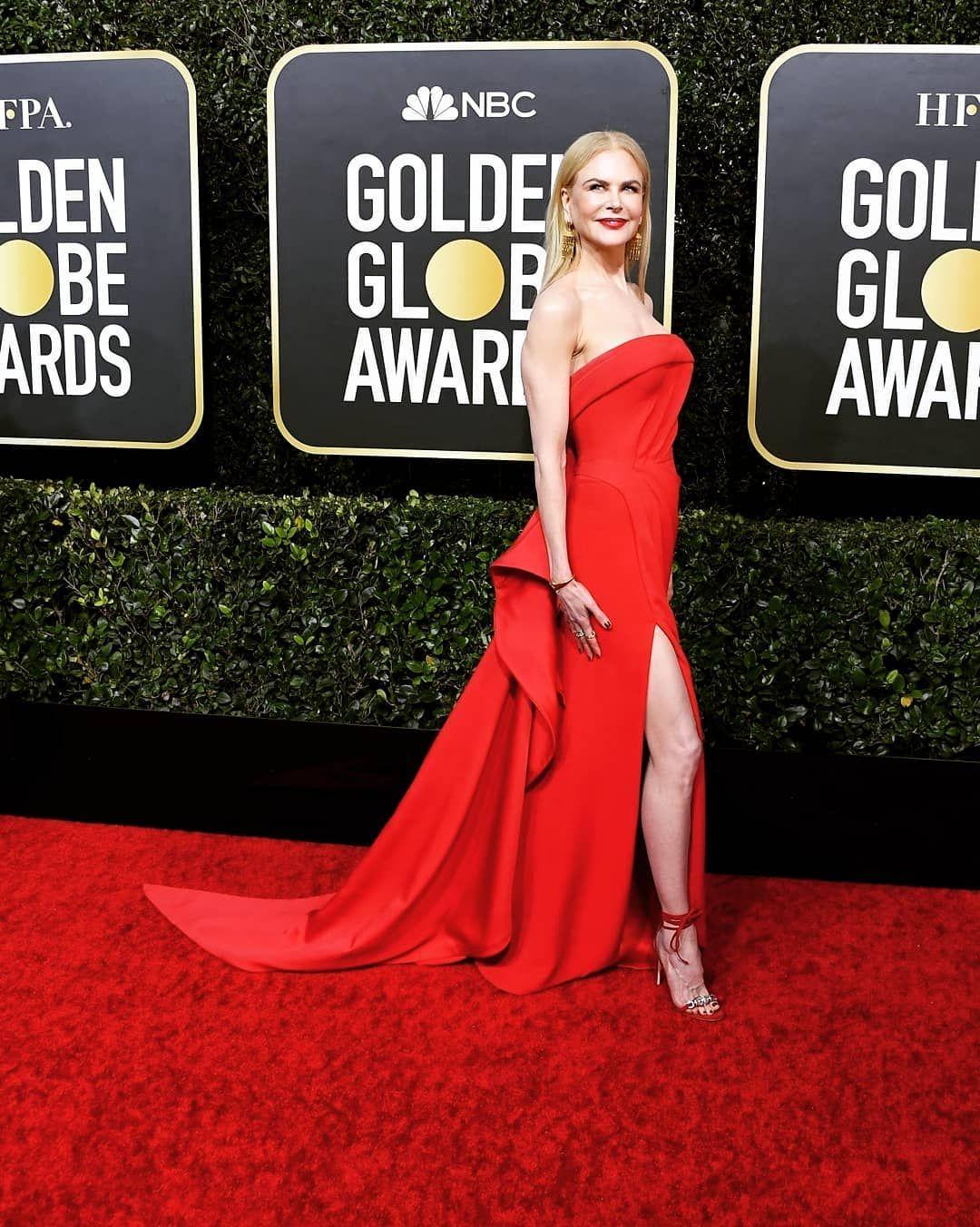 Nicole Kidman en la red carpet de los Golden Globes 2020