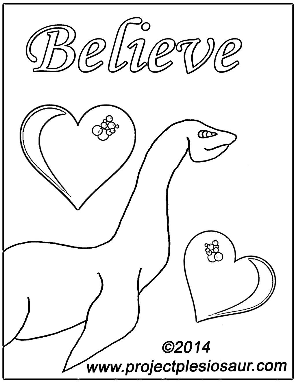Printable Loch Ness Monster Coloring Page By Daplesiosaur Deviantart