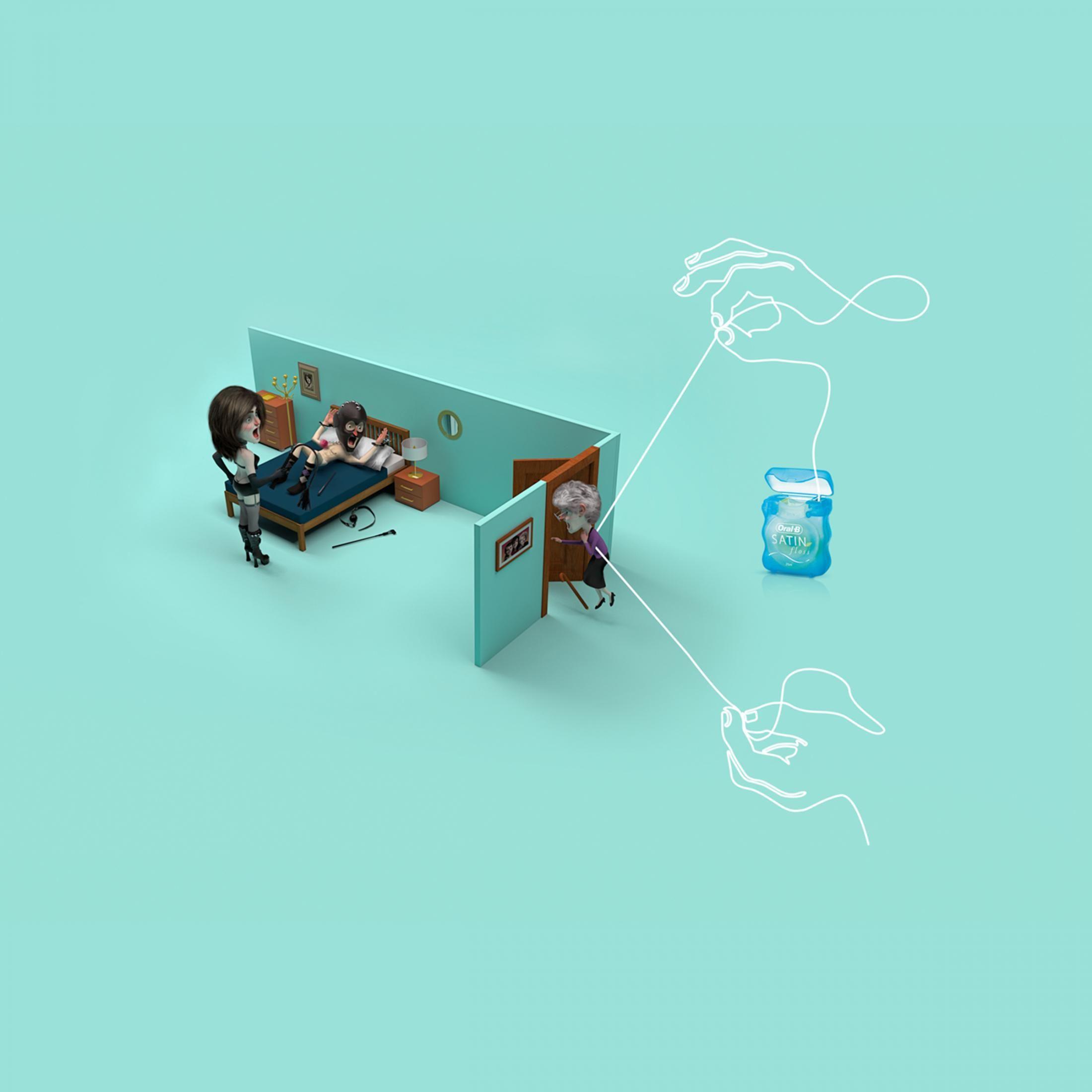 Oral-B: Awkward moments - grandma | Ads of the World™ | illustration
