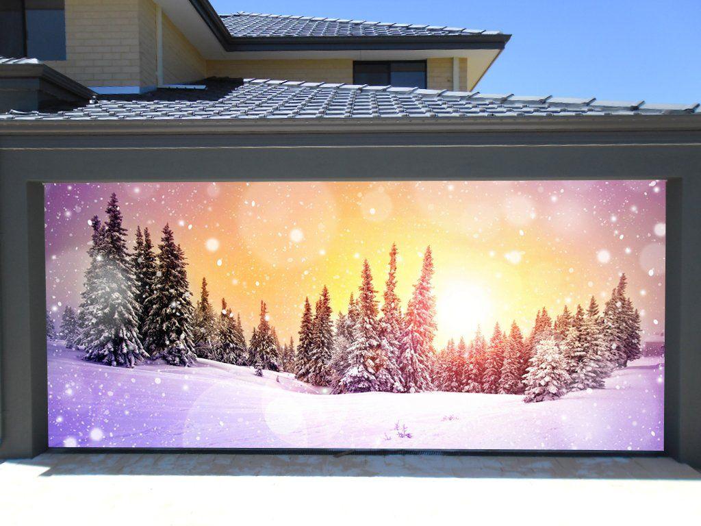 3d Garage Door Covers Christmas Tree Decorations Outdoor Wall ...
